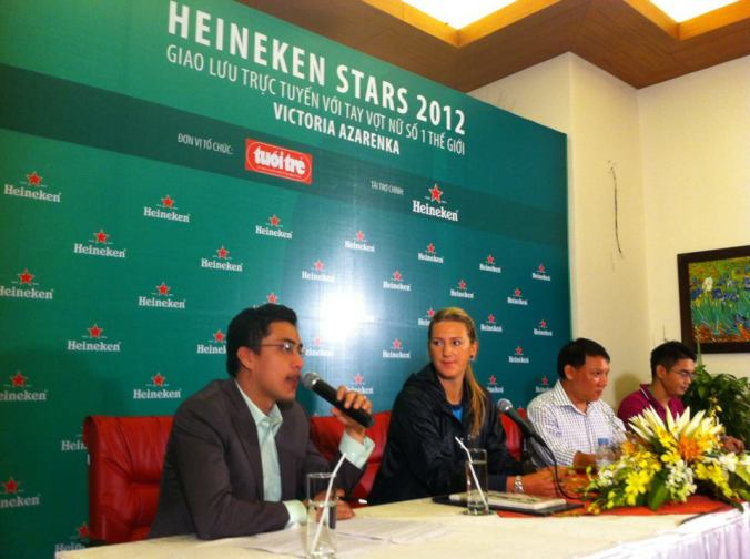 with azarenka
